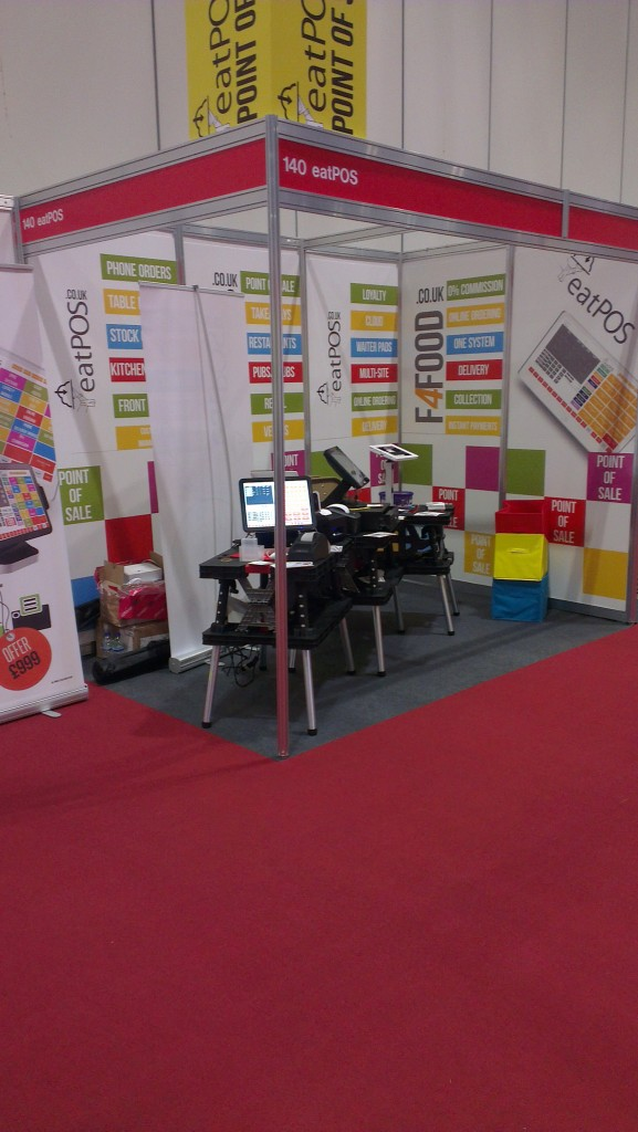eatPOS EPOS at trade show takeaway Expo 2015 London epos systems selling point of sale exhibition