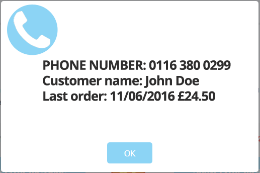 caller ID for eatPOS EPOS software for takeaways, salons including software