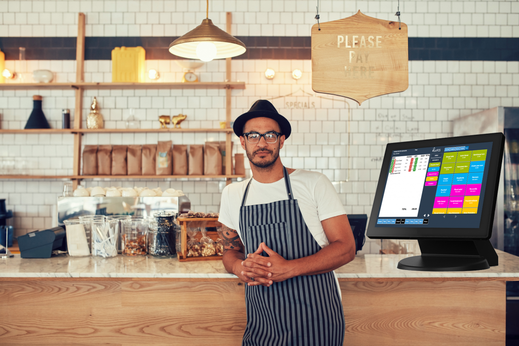coffee shop owner with eatPOS epos system quick service loyalty