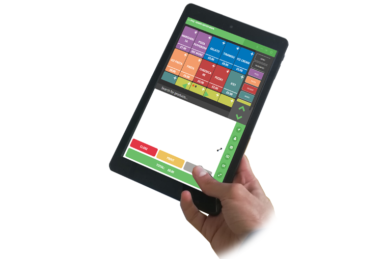 waiter tablet pad epos restaurant takeaway