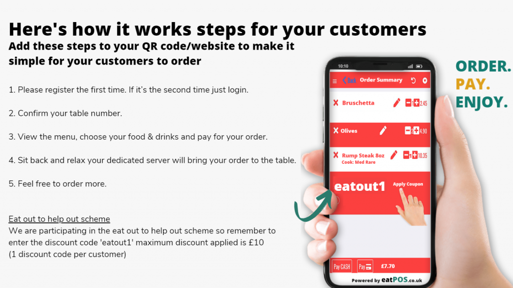 order at table apps contactless